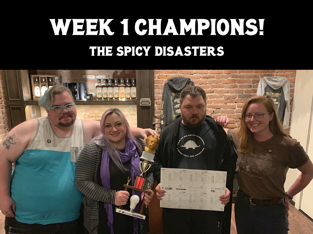 Week 1 Champions - The Spicy Disasters