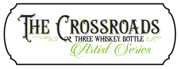 The Crossroads - three whiskey bottle artist series